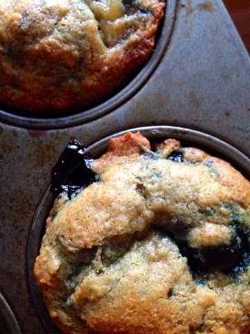 The Cozy Little Kitchen: Moist Blueberry Banana Muffins