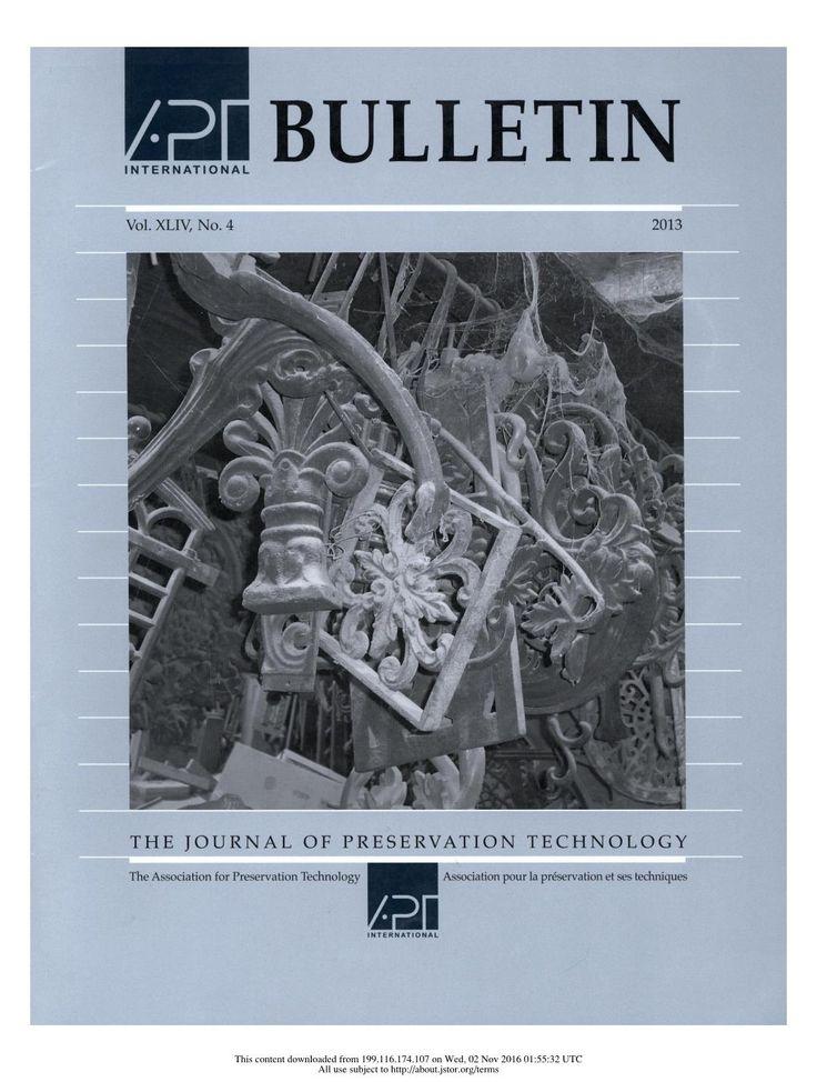 APT Bulletin Vol. 44, No. 4, 2013