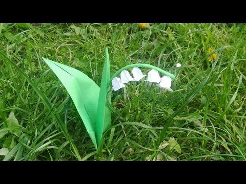 Origami : Une fleur de muguet en papier - Origami simple - YouTube