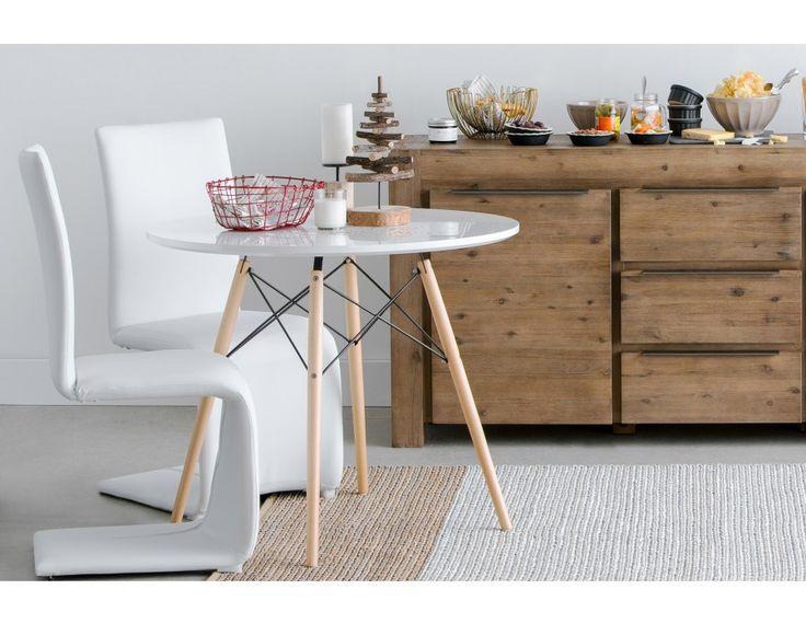 EIFFEL - Round dining table 35.5'' - White