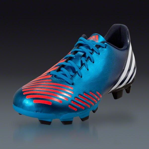 adidas Predito LZ TRX FG Junior - Bright Blue/Infrared/Collegiate Navy/White Firm Ground Soccer Shoes    SOCCER.COM