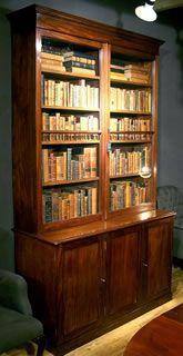 Antieke meubelen| antieke mahoniehouten boekenkast