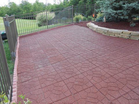 Outdoor Rubber Patio Pavers, Now Available At Rubber Floors And More!