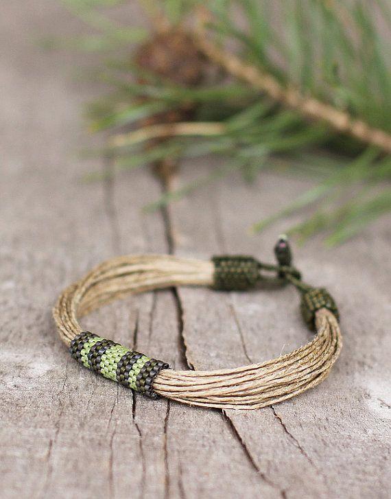 Cool Mens Bracelet Masculine Bracelet Green by Naryajewelry