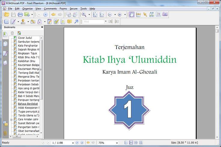 Tampilan Terjemah Kitab Ihya dalam Syumila NU. Kunjungi WWW.LDNU.OR.ID