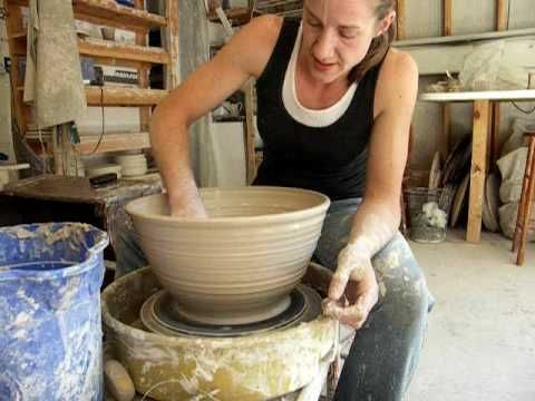 I have been throwing for about 12 years and for the last three, instructing. I have found some tools and tricks that have become helpful along the way and thought I'd share. This video will show you how to throw a large bowl on the potter's / pottery wheel.