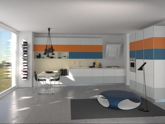 Tetrix by Micheal #Young #Scavolini #kitchen #Livingroom Colour Kit K16