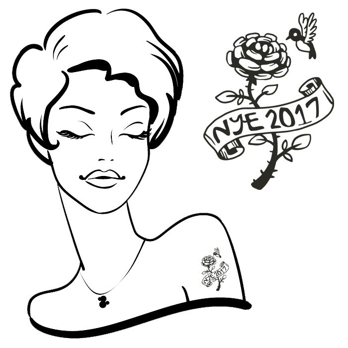 NYE 2017 Tattoo#57 (30 pack) *FREE SHIPPING* If you're buying tattoos only we would like to offer you Free Shipping. Use the discount code:SHIPFREEat the checkout....