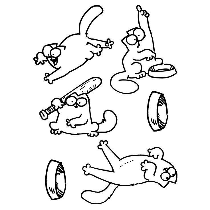 вот два черно-белые картинки для распечатки кот саймон информация предоставляется