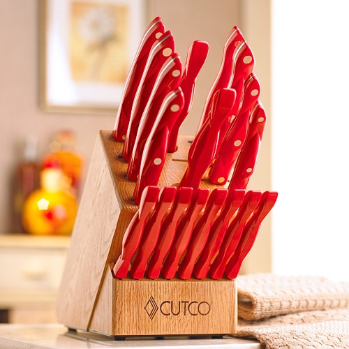 Red Homemaker 8 Set With Block By Cutco Cutlery This Set