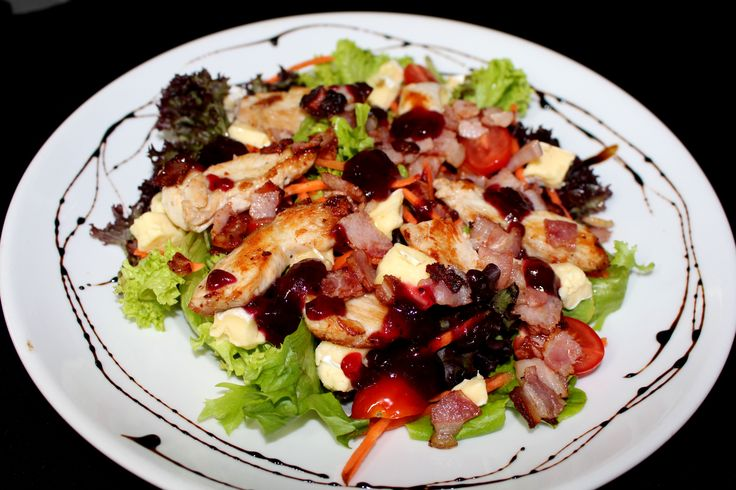 Tomi's Salad of the Day - this is Chicken, Bacon and Brie with Cranberry.