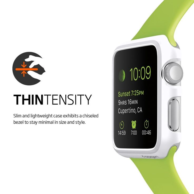 "Spigen Apple Watch Cases includes beautiful thin Snap-on Cases ""Spigen Thin Fit"" and ""Spigen Liquid Crystal"" (Reviewed)"