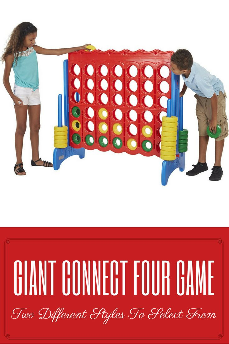 A giant connect four game for kids and adults to have fun with. Can play either indoor or outdoor. Very easy to assemble and put it away.