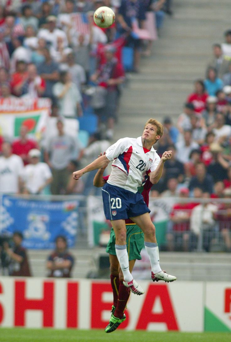 Brian McBride (#20 USA, 1993–2006, 96 caps, 30 goals), 2002 FIFA World Cup Korea/Japan.