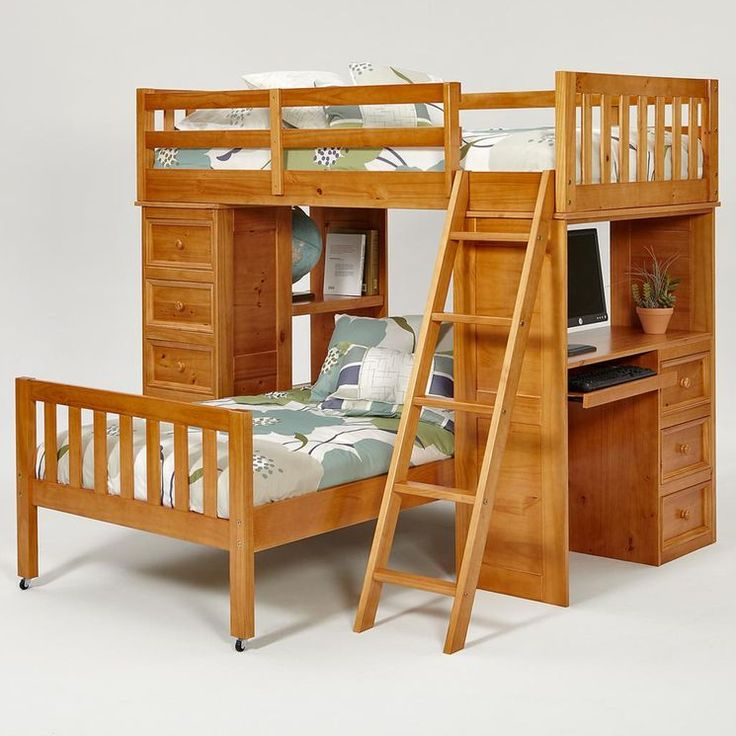 Picking this up (used) on the weekend for the boys room!   Twin over Twin L-Shaped Bunk Bed with Chest and Desk Ends