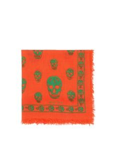 ALEXANDER MCQUEENClassic silk blend skull scarf