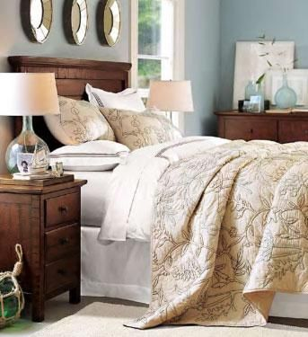Best of I like the color binations linens glass lamp wood tones Bedroom Design For Your House - Amazing pottery barn bedroom ideas Modern
