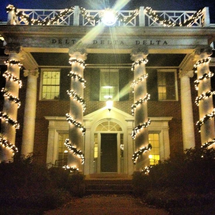 Mizzou Tri Delta Sorority House At Christmas I Have Many Happy Memories Of My Home On The Campus