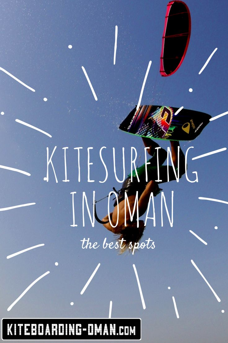 Oman - the land of 1001 kite spots! Beginners and advanced riders will find one of the best and most diverse destinations on earth for a great kite holiday. Masirah Island, Muscat, Aseelah Beach - we show you where to go! #kitesurfing #kite #kitesurf #kiteboarding #oman #sports #outdoor #travel #kitespots