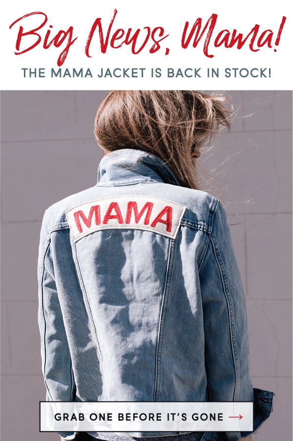 2600dff3dfe66 Team MAMA! This light wash denim jacket is perfect for any mama who wants  to let people know she's part of the club. Perfect as a gift or for  pregnancy ...