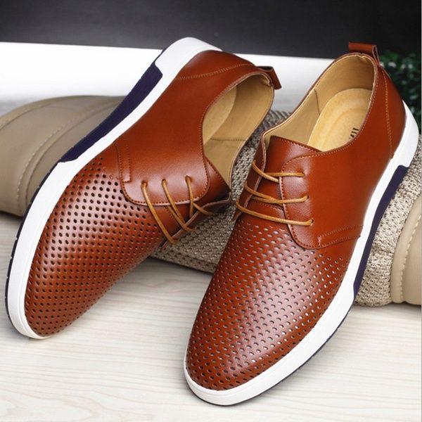 Casual leather shoes, Dress shoes men