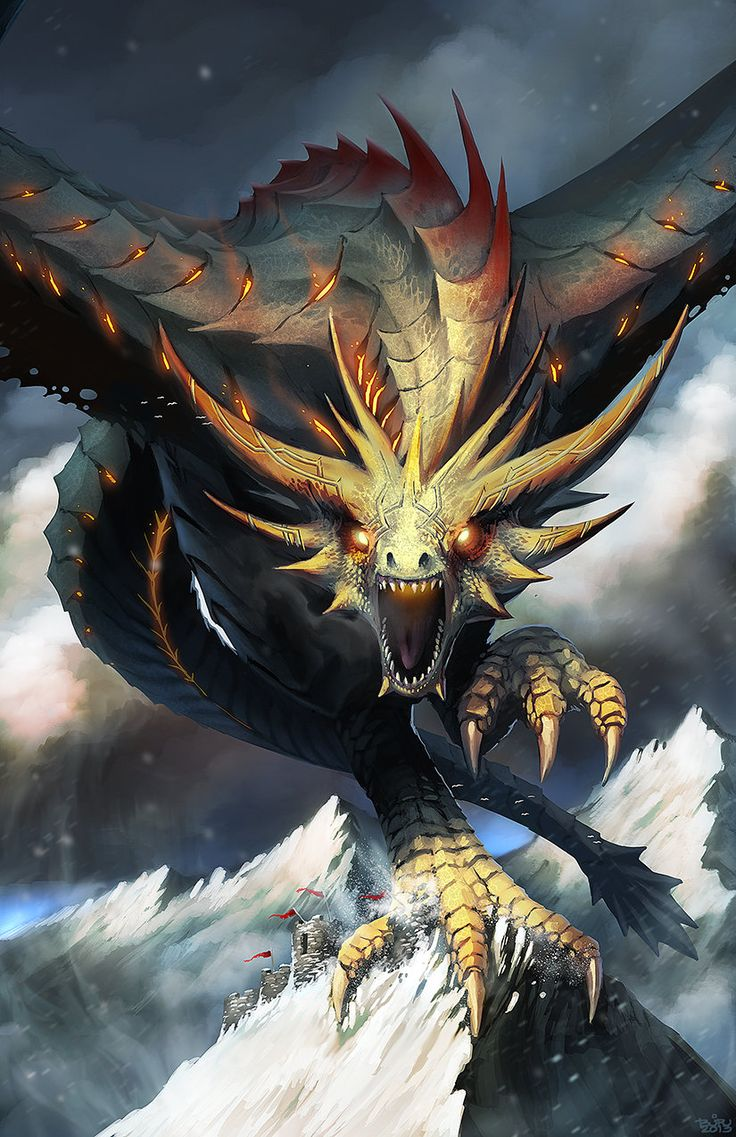 Dragon S Crown Gets New Character Art Screens Tarot: MOUNTAIN CRIMSON DRAKE, Brian Joseph Valeza On ArtStation