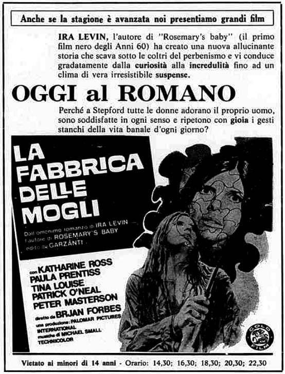 """La fabbrica delle mogli"" (The Stepford Wives, 1975) di Bryan Forbes, con Katharine Ross e Paula Prentiss. Italian release: May 13, 1977 #Movieposters #TheStepfordWives #Gynoid"