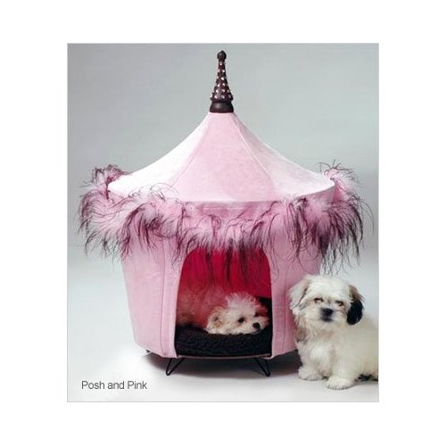 Posh u0026 Pink Tent Dog Bed-This luxury Posh u0026 Pink Tent Dog Bed from our designer dog bed collection ismade of pink micro suede and features a sassy pink and ...  sc 1 st  Pinterest & 8 best Dog beds images on Pinterest | Doggies Dogs and Puppies
