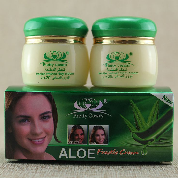 Free shipping 20g *2 = 1set Aloe Spot Whitening Face Cream Removes Pigment Freckle face care