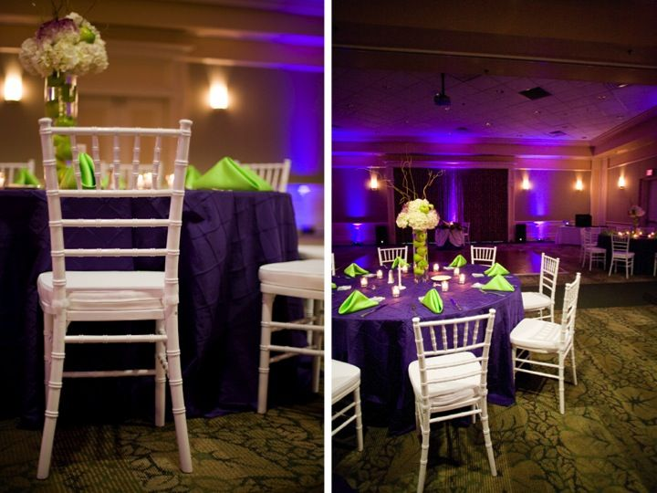 PURPLE GREEN WEDDING   ... purple and green with Part 2 of this Florida wedding from Heidi