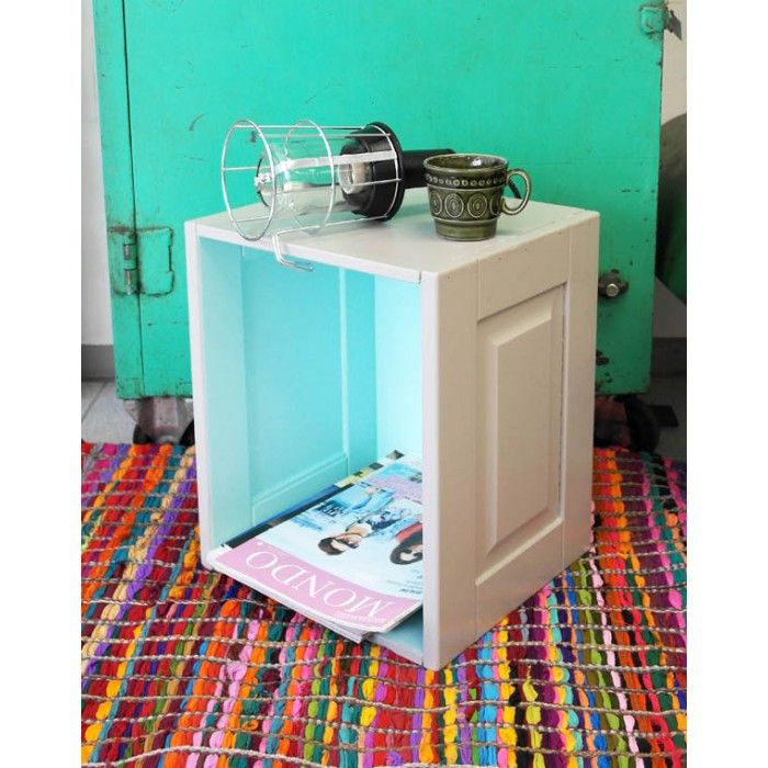 Box - Old kitchen capinet doors, recycled #Rento Design