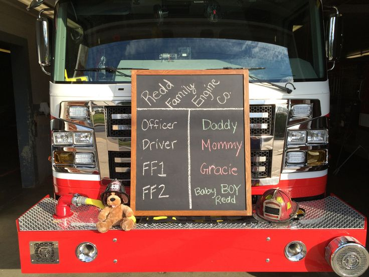Baby announcement - firefighter
