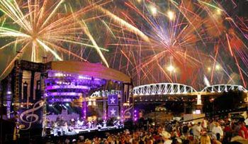 4th of July fireworks over Nashville, Tennessee... where are you headed this July 4th? Here's some of the best spots!