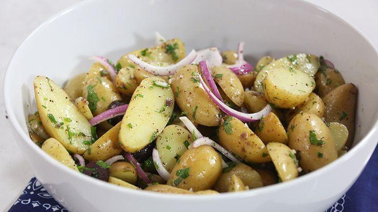 Fingerling potato salad with black olives