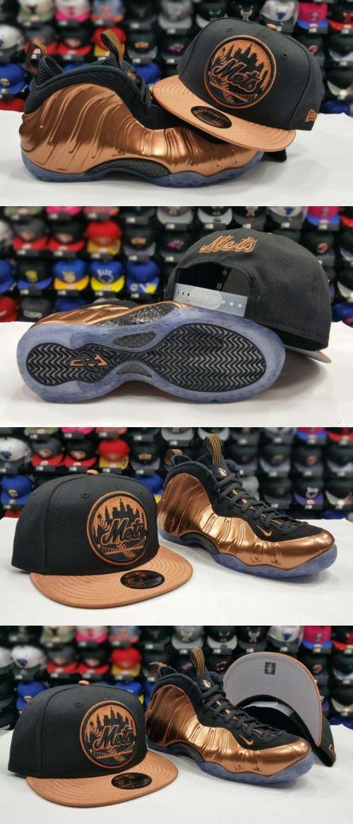 Hats 52365: Matching New Era New York Mets Snapback Hat Nike Foamposite Black Copper Cap -> BUY IT NOW ONLY: $31.99 on eBay!
