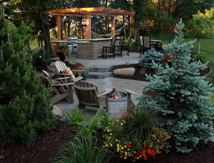 152 best images about backyard new design ideas on for Outdoor kitchen landscaping ideas
