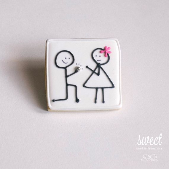 Engagement Cookie Favors // One Dozen Sugar by sweetcookieboutique