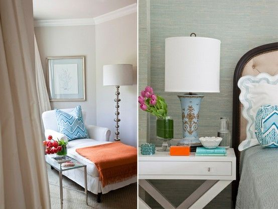Turquoise And Coral For The Master Suite · Orange Bedroom DecorOrange ...