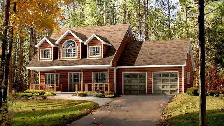 Exterior Rendering. Take off the garage and put a wrap around porch.