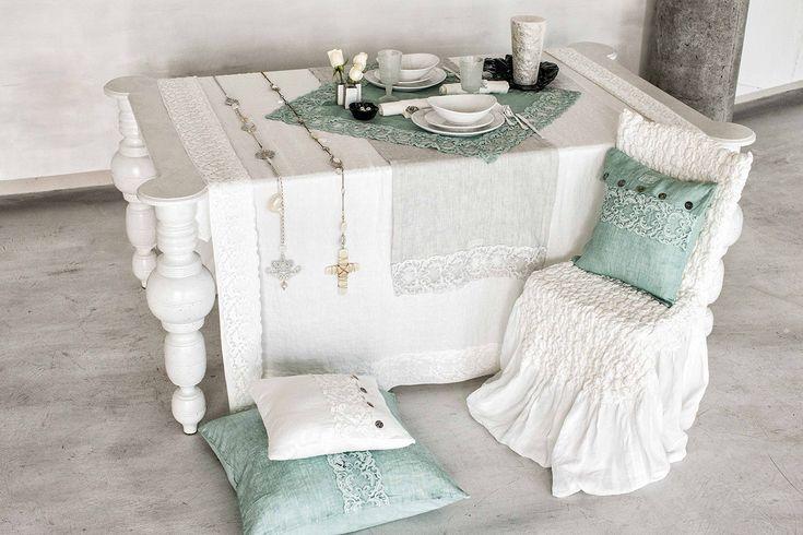 #danieladallavalle #artepura #fw15 #collection #white #green #table #pillows #chair