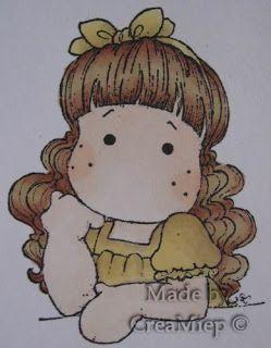 Colours used:  Skin: O729 Blush - Y418 Ivory  Hair Color: Cocoa O535 - O427 Cinnamon - O928 Sandstone  Dress: O928 Sandstone - Y417 Buttercu...