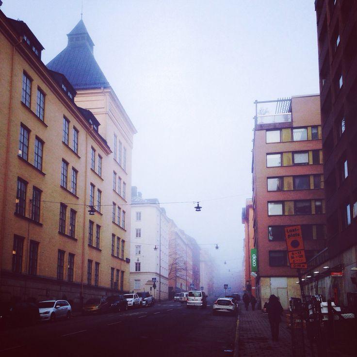 Fog Foggy Morning Stockholm