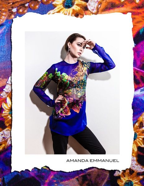 Amanda Emmanuel - Autumn/Winter 2012      SAPPHIRE - Silk Chiffon Blouse    http://www.amandaemmanuel.com/collections/shop/products/sapphire    Exclusively available at Ursula B www.ursulab.com: Chiffon Blouses
