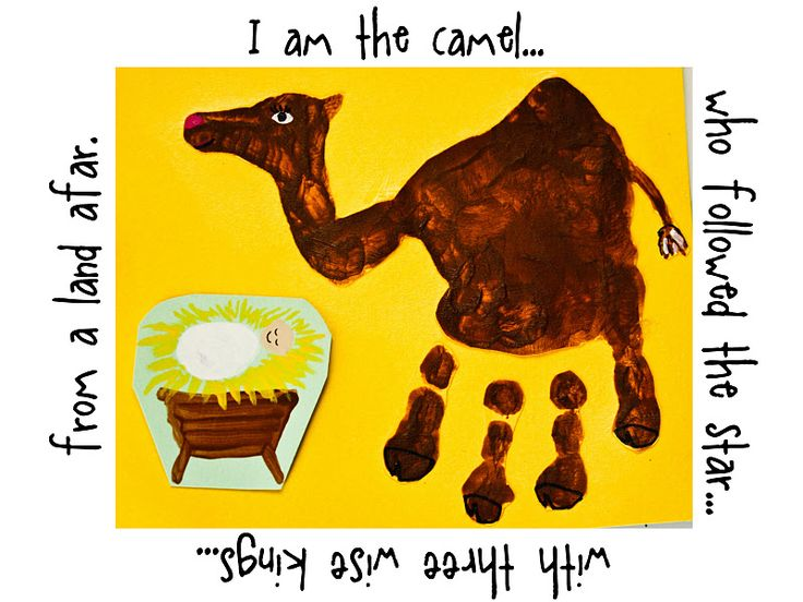 Camel handprint, so cute! Día de los Reyes : Three Kings Day Crafts and Activities For Kids