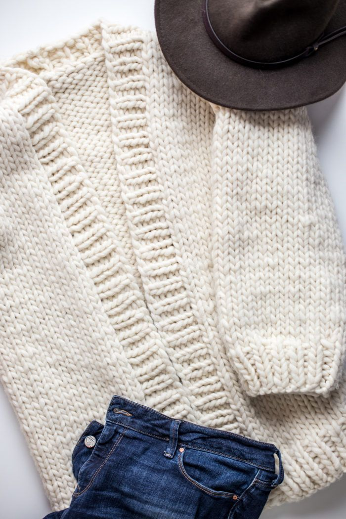 137339dc6 Simone Chunky Cardigan Knitting Pattern and Kit