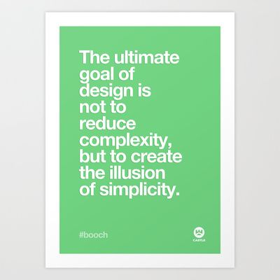 Design Quotes #3 Art Print by Made by Castle - $16.99