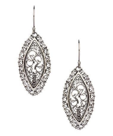 Seraphina Filigree Marquis Drop Earrings #maxandchloe