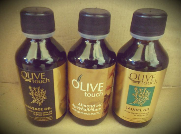 Olive Touch oils| #massageoil #almondoil #laureloil #greekproduct