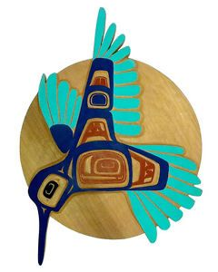 Northwest Coast First Nations Native Indian Tribal Tlingit Hummingbird Carving | eBay