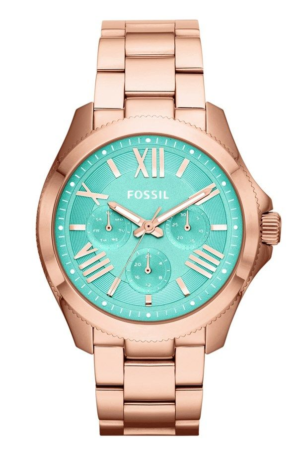 This stunning rose gold and mint watch is on the wish list.
